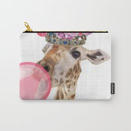 Giraffe in crown of flowers Carry-All Pouch