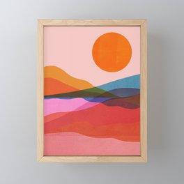Abstraction_OCEAN_Beach_Minimalism_001 Framed Mini Art Print