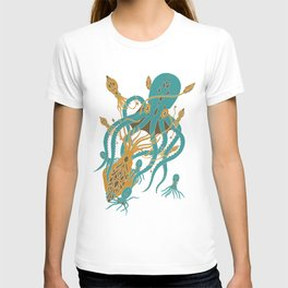 Battle of the Cephalopods T-shirt