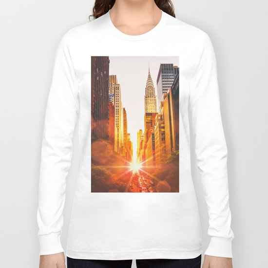 NYC Skyline Sunset Long Sleeve T-shirt