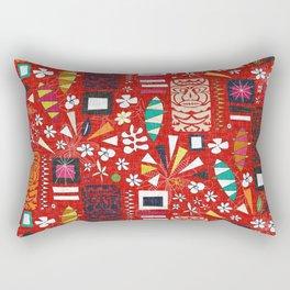 tiki red Rectangular Pillow