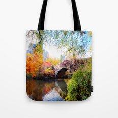 Last Autumn in Central Park Tote Bag