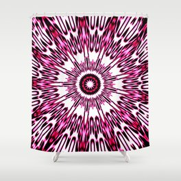 Pink White Black Explosion Shower Curtain