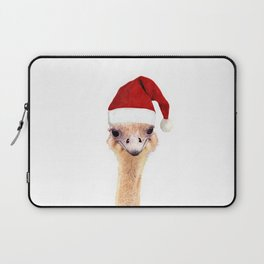 Ostrich Christmas Laptop Sleeve