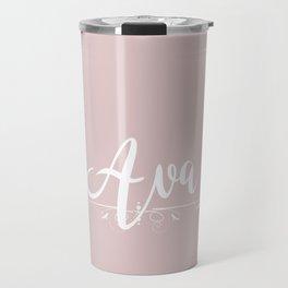 Name Ava Travel Mug