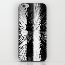 169 - Black and white spikey stripes iPhone Skin