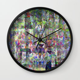 The season came, finally, pummeling down, sunny... Wall Clock