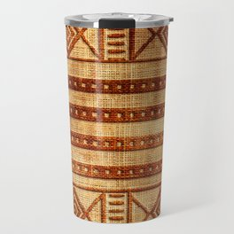 Embossed African Pattern Travel Mug