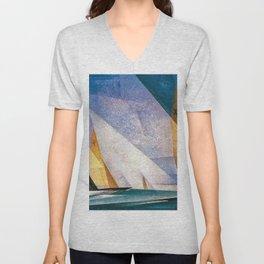 Sailboats by Lyonel Feininger Unisex V-Neck