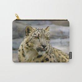 Snow leopard portrait photo Carry-All Pouch