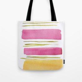 17   |181026 Lines & Color Block | Watercolor Abstract | Modern Watercolor Art Tote Bag