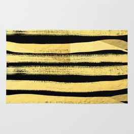 Sochie - black gold minimal black and white modern retro bold dramatic cell phone iphone case trendy Rug