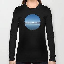 Blue line landscape Long Sleeve T-shirt