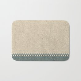 Texture Taupe and Grey Green Pattern Bath Mat