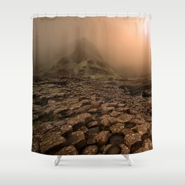 When the sun is going down Shower Curtain