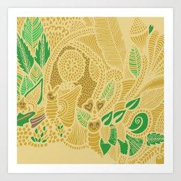 Nature's greens ! Art Print
