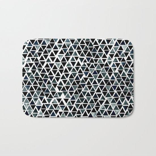 Black Triangles Pattern 01 Bath Mat