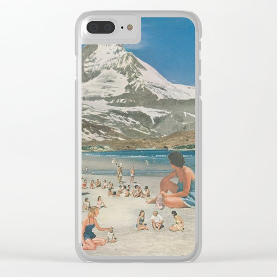 Matterhorn beach Clear iPhone Case