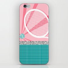 Boo Ya - tennis full court racquet palm springs resort sports vacation athlete pop art 1980s neon  iPhone & iPod Skin