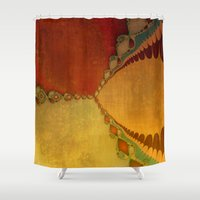 southwest Shower Curtains featuring Southwest Sunset by Artistic Home Decor
