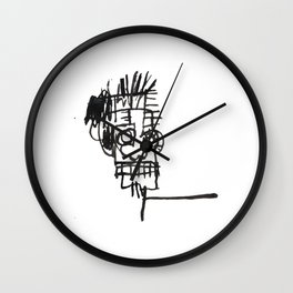 70s pop art notebook sketch vectorized and reworked Wall Clock