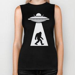 Bigfoot UFO Abduction Believe Biker Tank