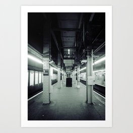 NYC Subway one point perspective Art Print