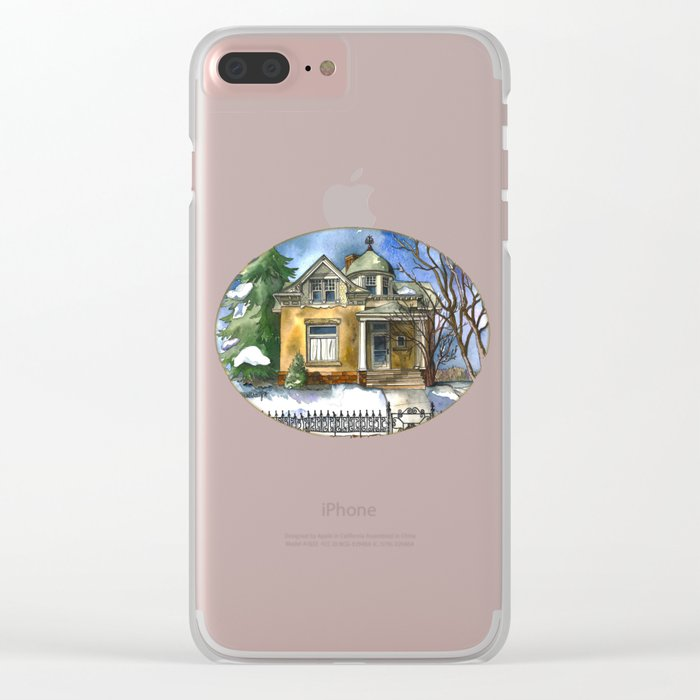 The Little Brown House Clear iPhone Case