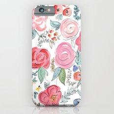 Watercolor Floral Print Slim Case iPhone 6
