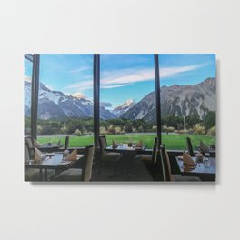 Dinner by the Mountains Metal Print