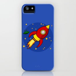 Space Rocket iPhone Case