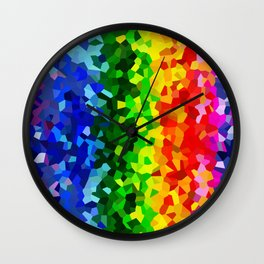 Rainbow Moon Love Wall Clock