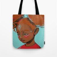 child Tote Bags featuring child by keiadnae