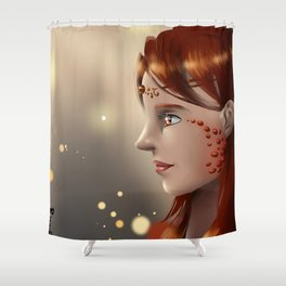 Fire eyes Shower Curtain