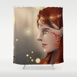 Fire eyes Shower Curtain