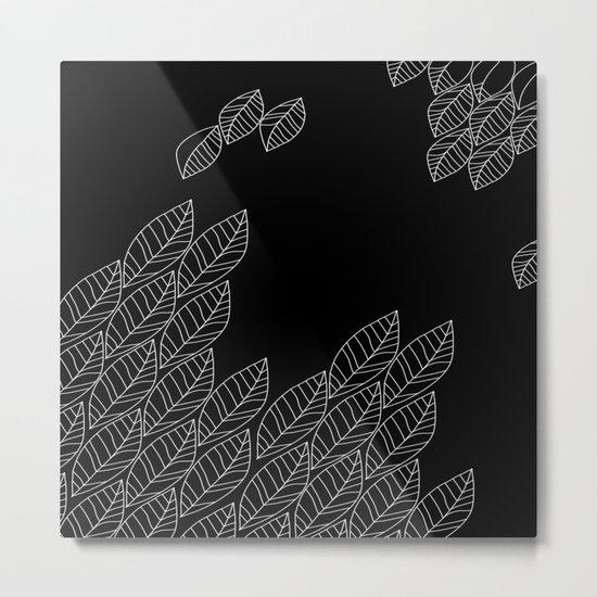 Leaves Stream Metal Print