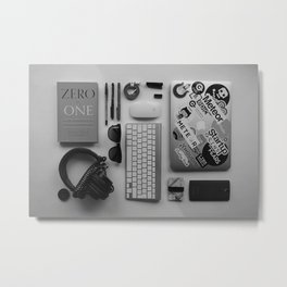 COMPUTER - IPHONE - ANDROID - HEADPHONES - CREDIT - CARDS - MOUSE - PENS Metal Print
