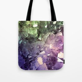 Two Tone Crystal Geode Tote Bag