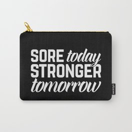 Stronger Tomorrow Gym Quote Carry-All Pouch