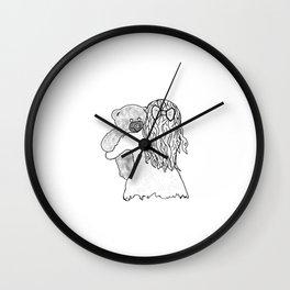 I miss u teddy Wall Clock
