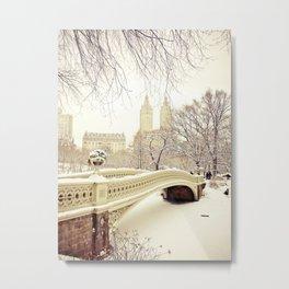 New York City Snow Wonderland Metal Print