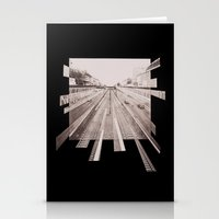subway Stationery Cards featuring Subway by PSYCHO