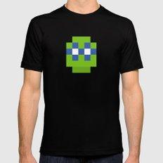hero pixel green blue Black Mens Fitted Tee MEDIUM