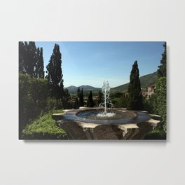 A Tivoli Fountain Metal Print