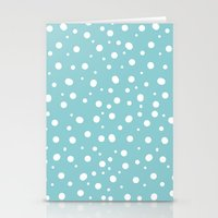 polkadot Stationery Cards featuring White Polkadot by Laura Maria Designs