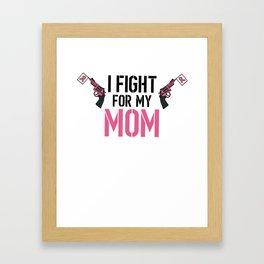 Breast Cancer Awareness Art For Warrior Women Light Framed Art Print
