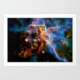 GAlAxY : Mystic Mountain Nebula Art Print