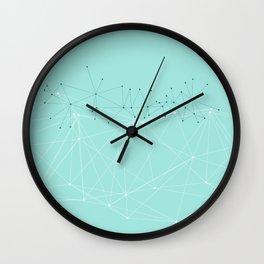LIGHT LINES ENSEMBLE IX TURQUOISE Wall Clock