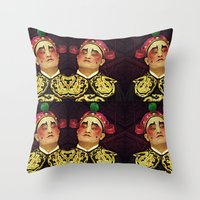 actor Throw Pillows featuring Chinese Opera Actor. by Ian Gledhill