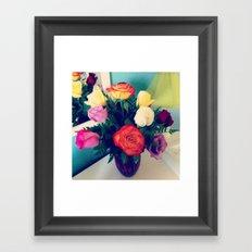 Rose Bouquet Pop Framed Art Print